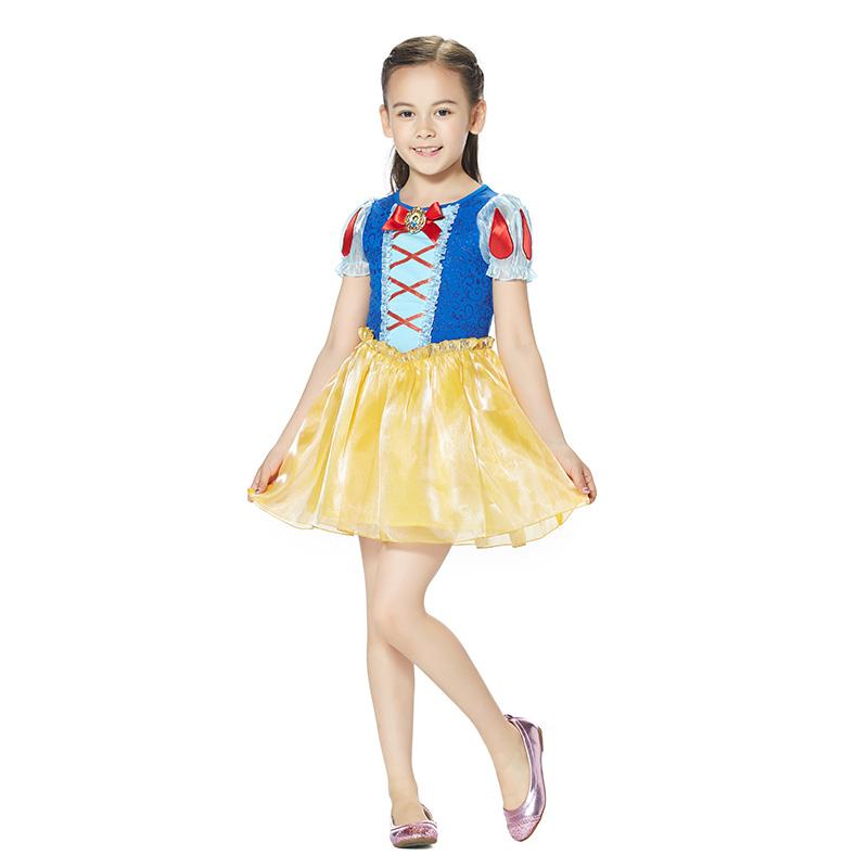 迪士尼白雪公主连衣裙宝蓝色