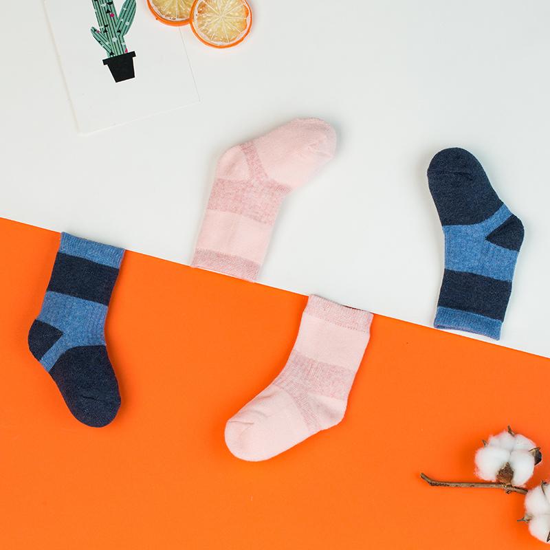 歌瑞家A类女童粉色中筒针织袜