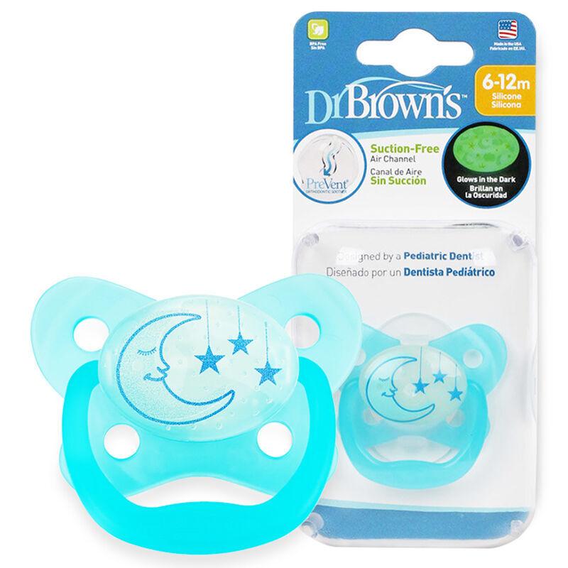 布朗博士DrBrown's夜光舒睡安抚奶嘴6-12个月蓝色