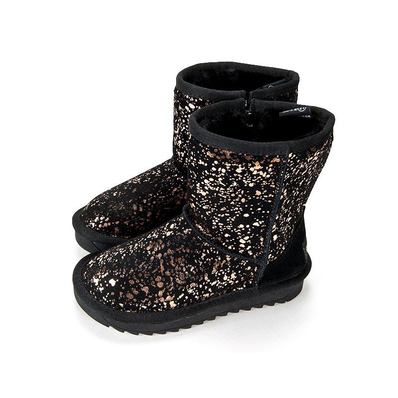 歌瑞家女婴时尚棉靴黑