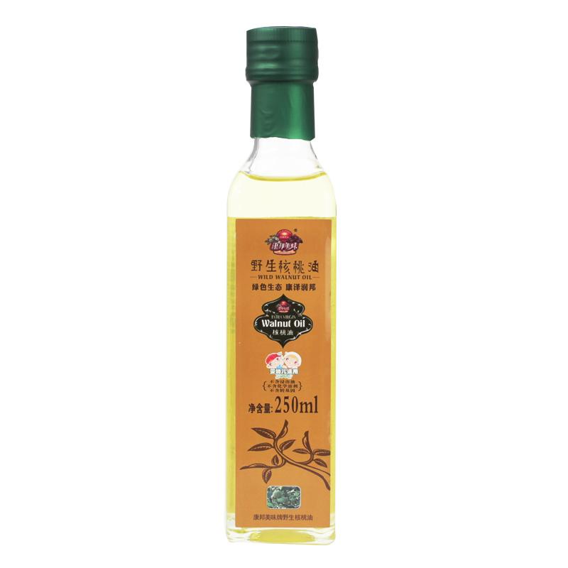康邦美味核桃油 高海拔 原生野核桃 品质新鲜纯正 250ml/瓶