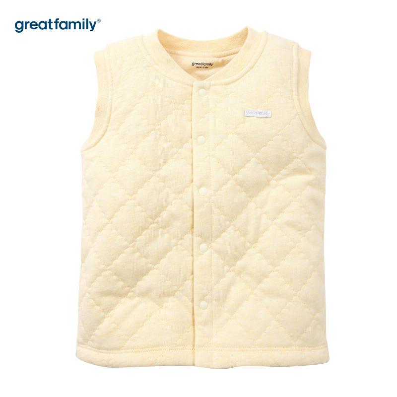 歌瑞家(Greatfamily)A类夹棉黄色马甲男女宝宝通用款