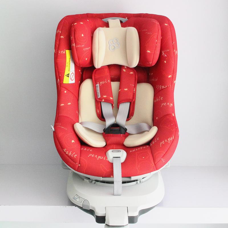 宝贝第一(Babyfirst)儿童安全座椅宝宝座椅企鹅萌军团钻石版企鹅红R101A