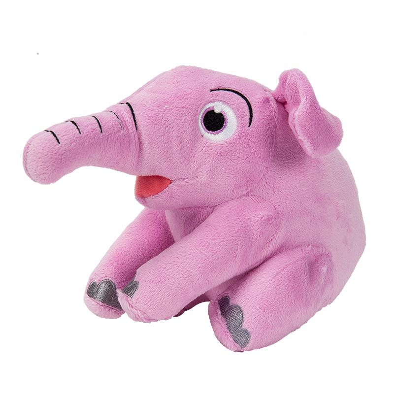 字母毛绒玩具幼蓓小象(粉)