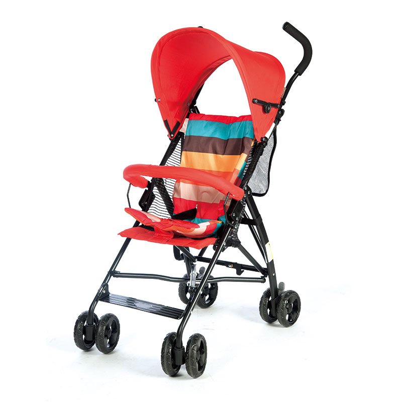 宜柏轻便型儿童推车伞车 1025 红色