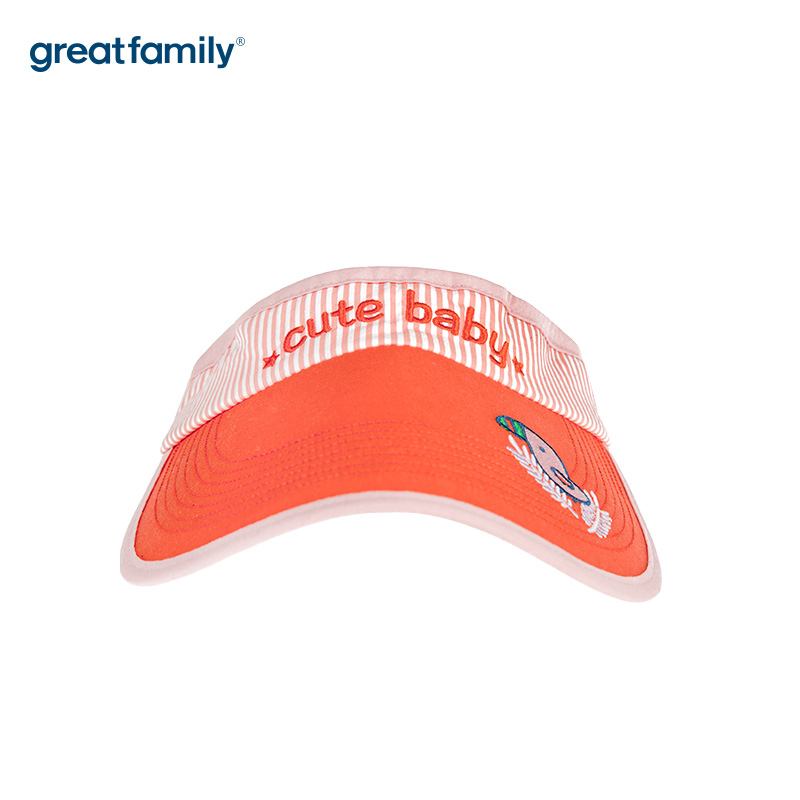 歌瑞家A类女童粉色空顶帽帽子遮阳帽儿童帽子