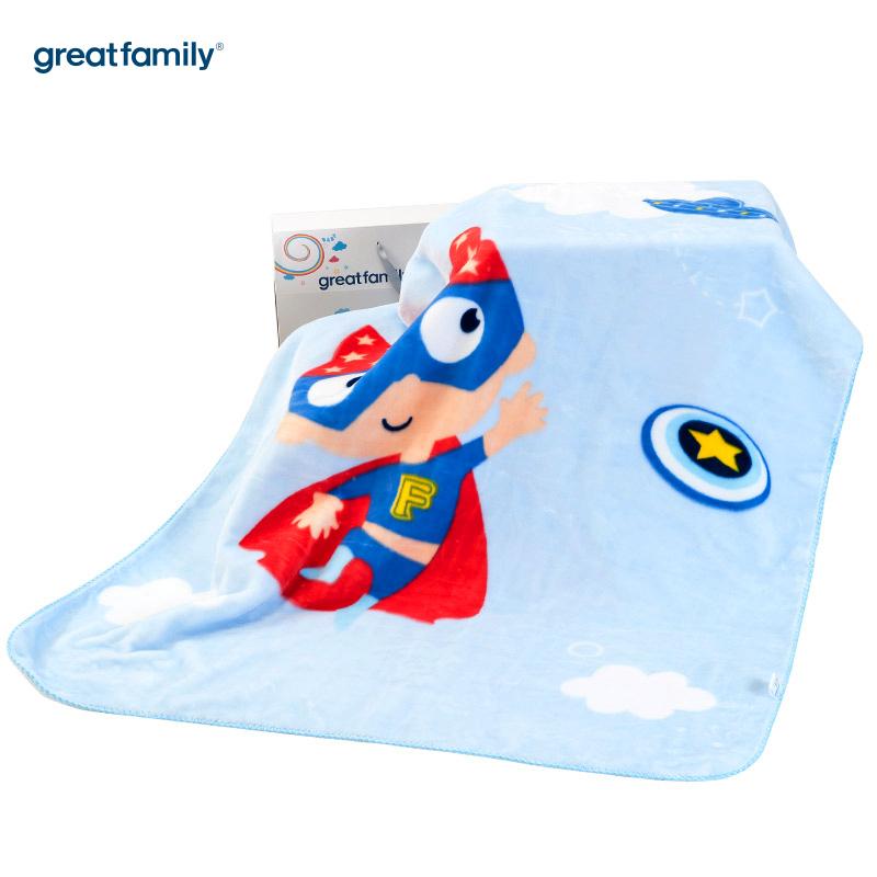 歌瑞家(Greatfamily)A类双层云毯蓝色110*140cm