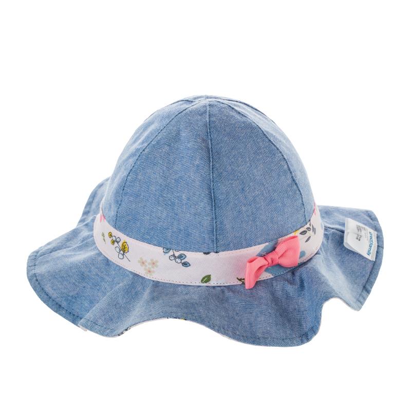 歌瑞家A类女童蓝色梭织盆帽