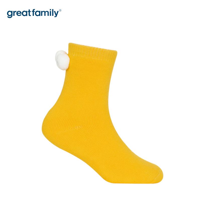 歌瑞家A类黄色立体小眼睛男童中筒袜
