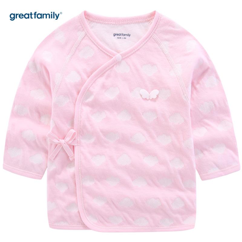 歌瑞家A类时尚双层提花系列粉色女长袖和袍上衣