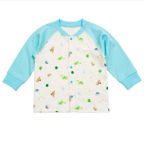 歌瑞贝儿Great Baby(T)--男童蓝色纯棉针织印花长袖上衣