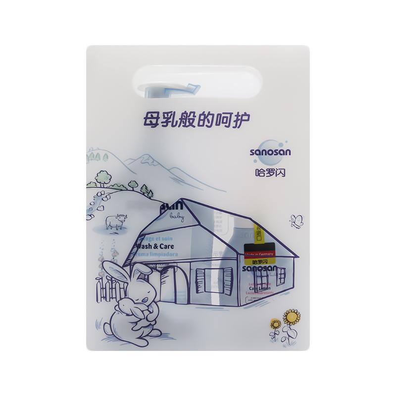 哈罗闪(新)-婴儿净护洗护套装(洗发沐浴露400ml+润肤乳100ml)2件/套