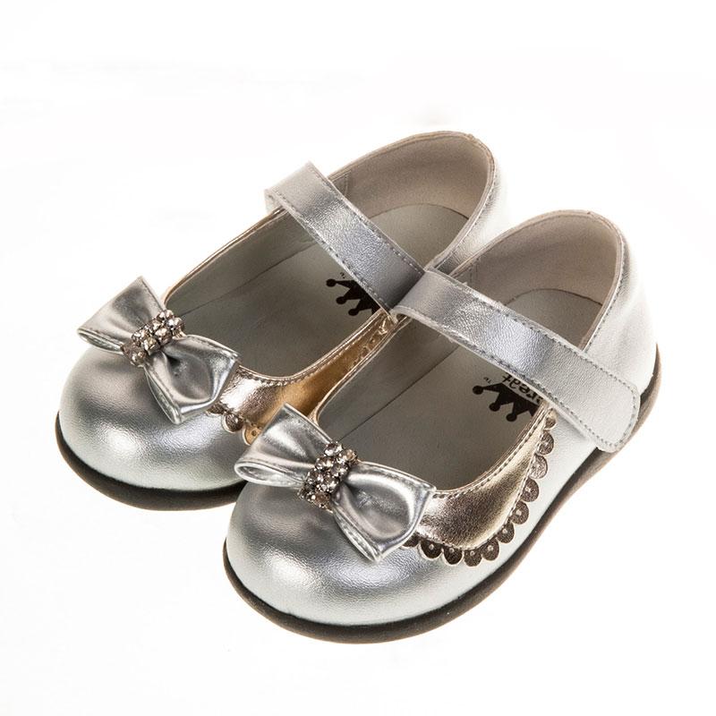 歌瑞贝儿时尚公主皮婴儿鞋银色13.5码GB151-028SH