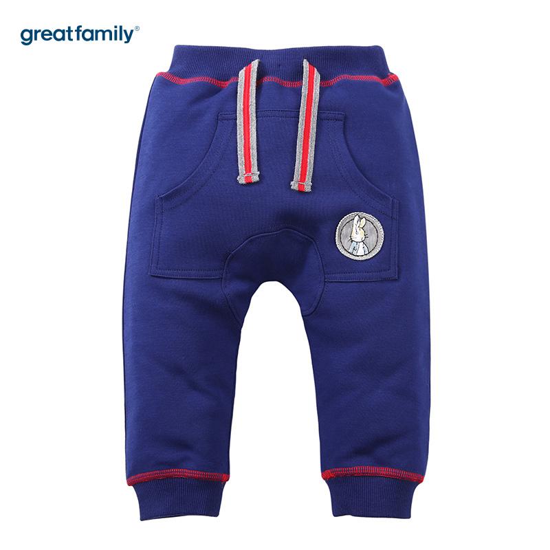歌瑞家(Greatfamily)比得兔(PeterRabbit)A类男宝宝蓝色针织PP裤