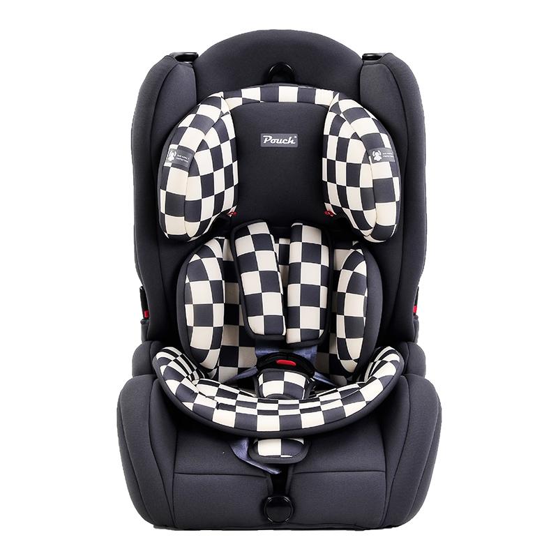 Pouch适用9个月-12岁便携式车载宝宝安全座椅Q19-1黑色