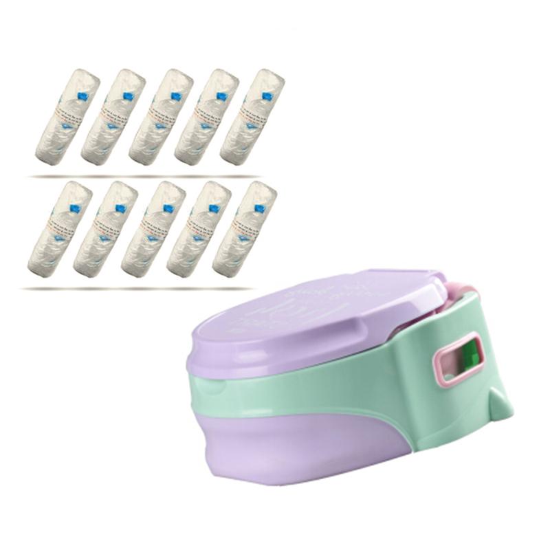 8010儿童便携坐便器紫色(6-72月)加8012清洁袋50只装