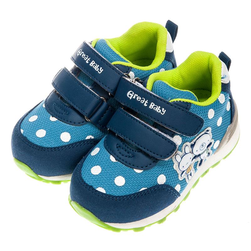 歌瑞贝儿男婴卡通运动鞋GB153-011SH蓝14.5cm双