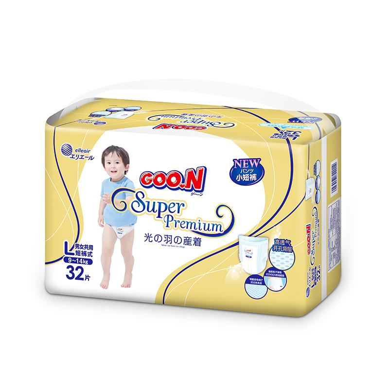 GOO.N(大王)短裤式纸尿裤光羽系列L