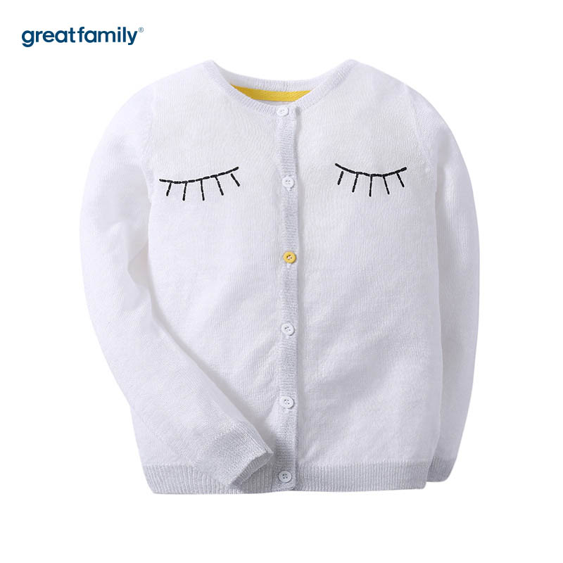 歌瑞家A类酷帅宝贝白色女童空调衫防晒衣皮肤衣薄外套