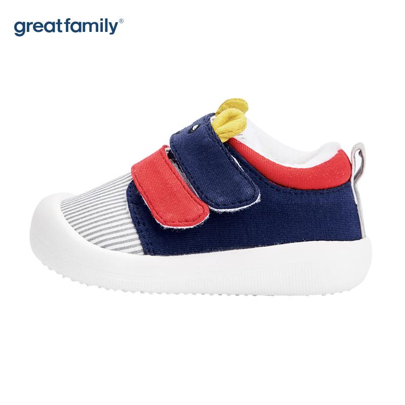 歌瑞家(greatfamily)男婴可爱动物宝宝鞋GBS4-014SH蓝(无鞋盒)