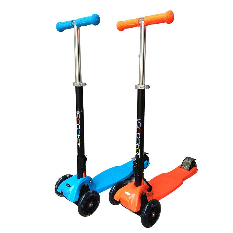 一米高科大童款折叠滑板车-蓝色3-6岁