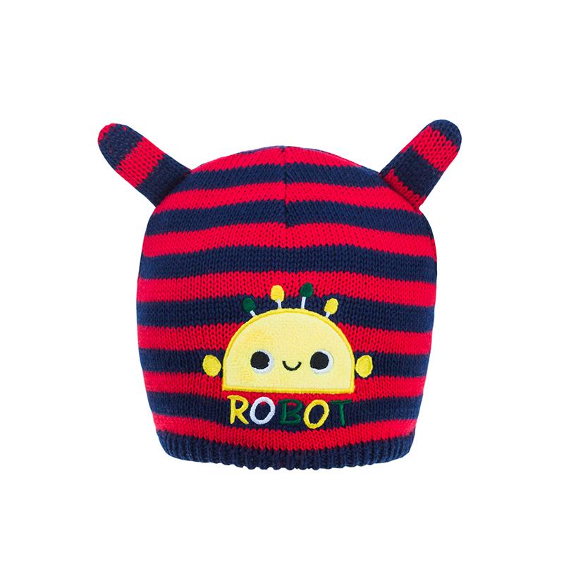 歌瑞家A类男童条纹针织帽