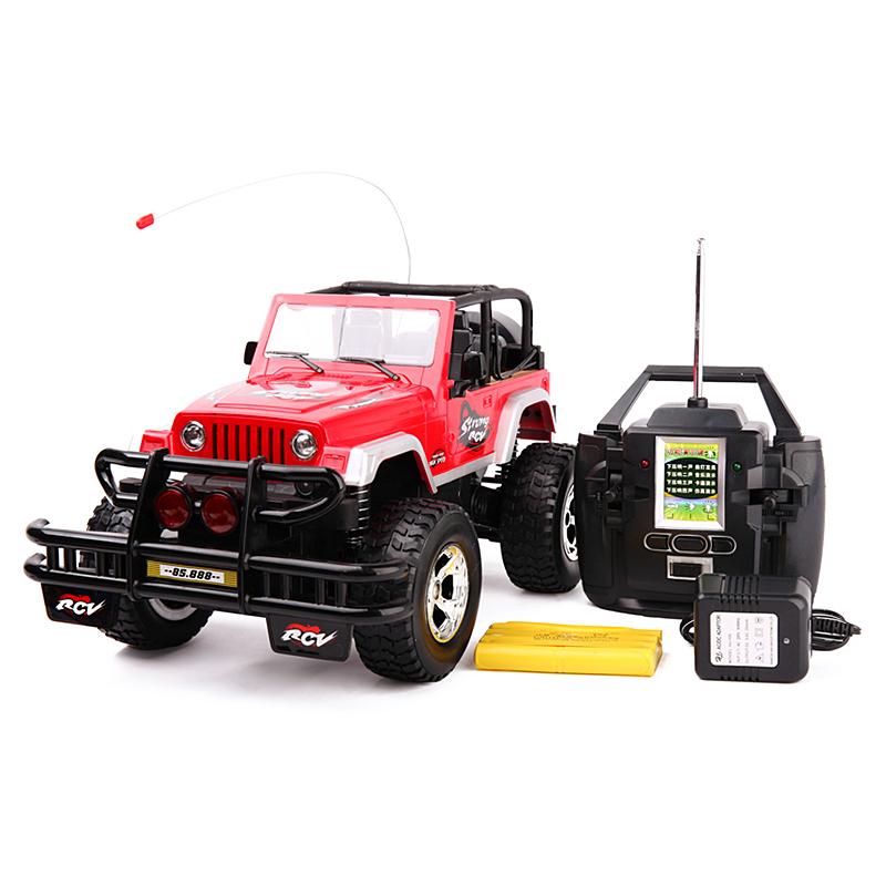 环奇627-10牧马人1:9.5遥控玩具车 充电版红色