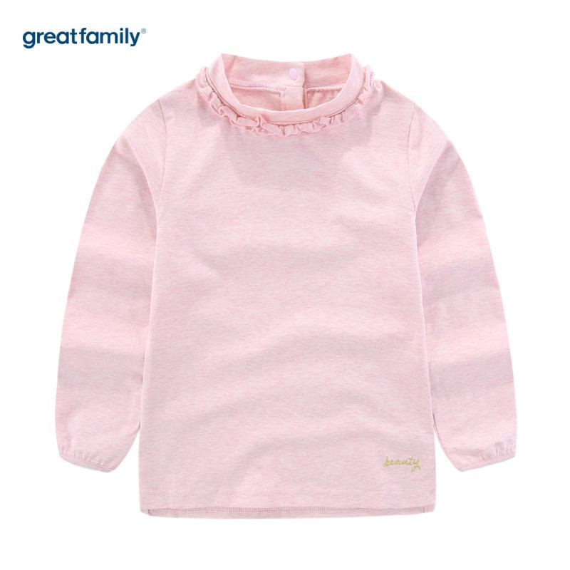 歌瑞家A类可爱精灵粉色女长袖T恤