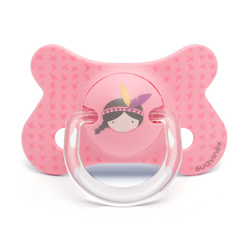 suavinex苏维妮 FUSION系列拇指型硅胶安抚奶嘴新生儿婴儿奶嘴(4-18个月)法蒂玛公主3801232U