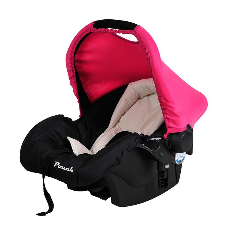Pouch婴儿提篮汽车安全座椅Q07枚红色