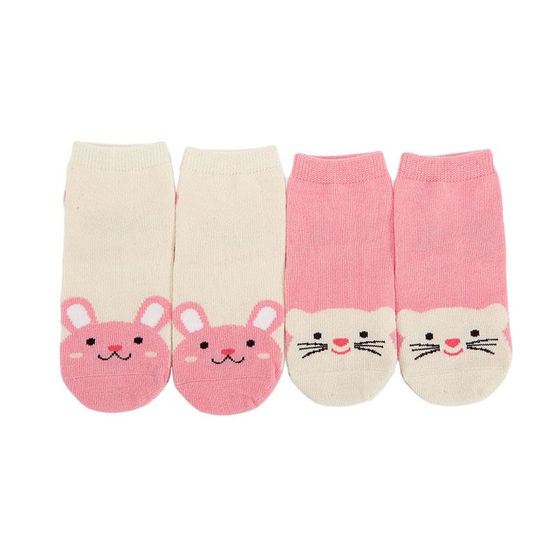 歌瑞家greatfamily女童猫咪四季袜(2双装)