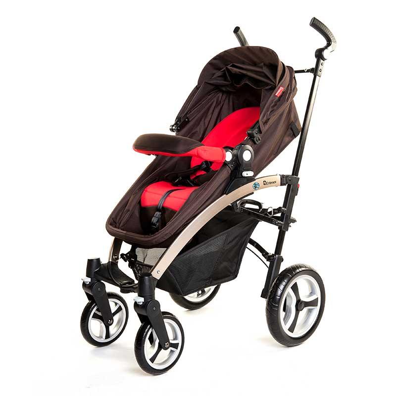 宜柏(Embrace)儿童豪华多功能可换向高景观大轮手推车红色