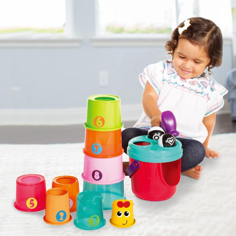 B kids 蓝盒宝宝 长颈鹿叠叠乐 适用于12个月以上 217003(004702)