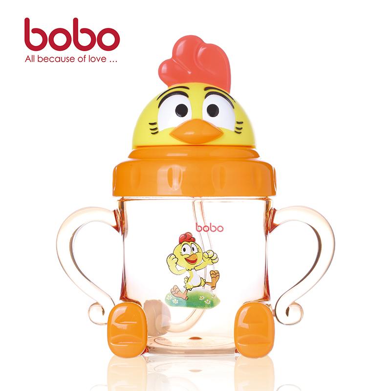 乐儿宝BOBO卡通学饮杯180ML颜色随机