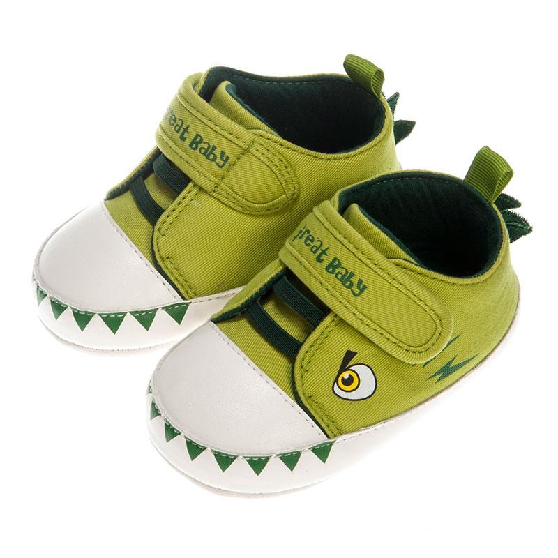 歌瑞贝儿男婴小恐龙宝宝鞋GB153-003SH绿11cm双