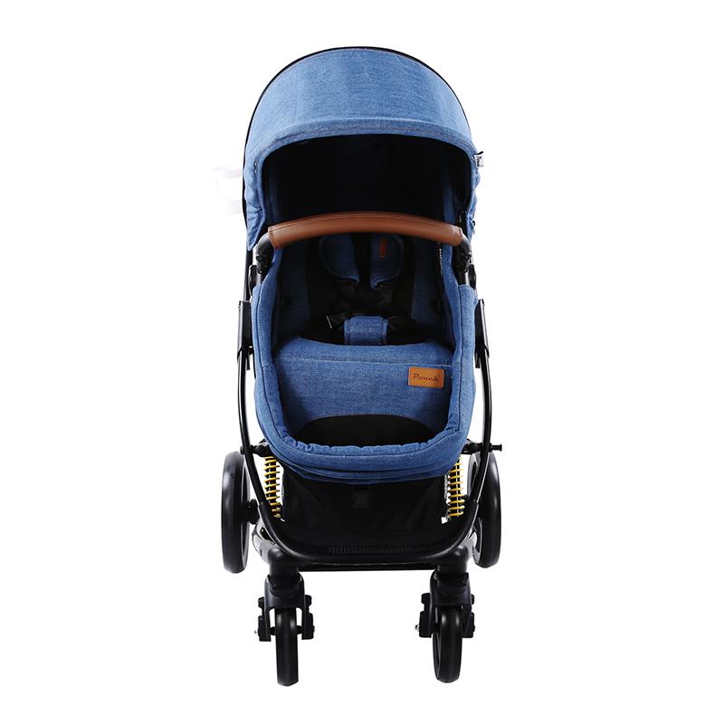 Pouch高景观婴儿推车P35 牛仔蓝