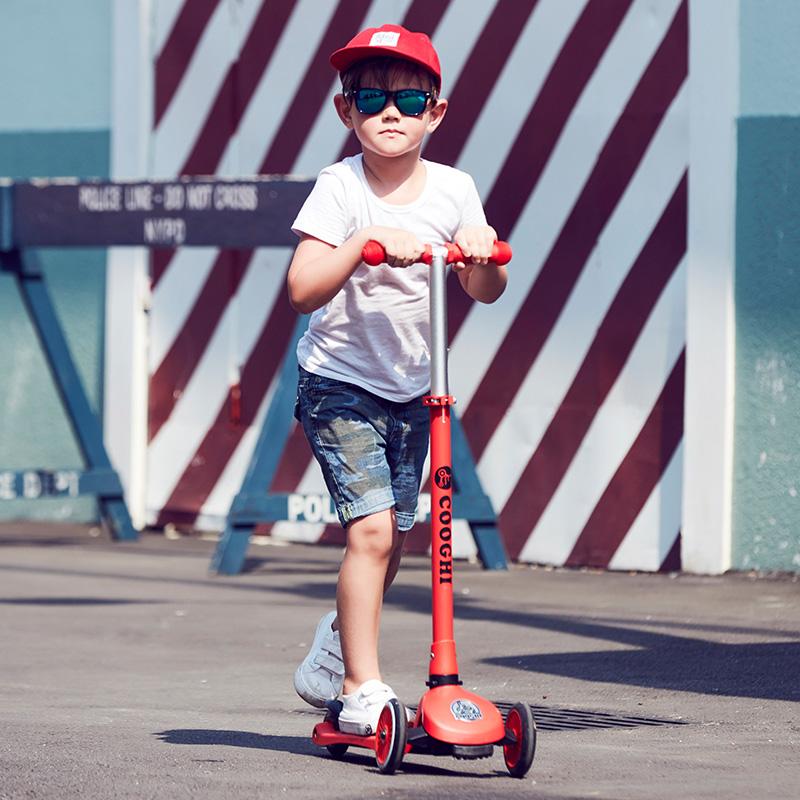 COOGHI酷骑Veli Kids1维乐宝贝滑板车 圣诞红