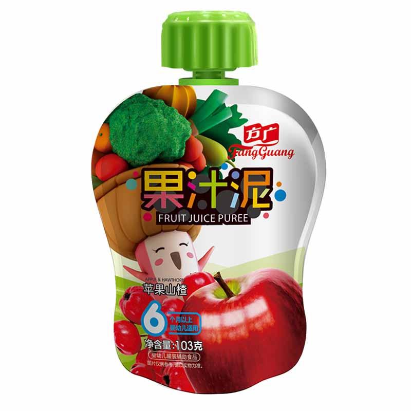 方广苹果山楂果汁泥袋装103g6月以上