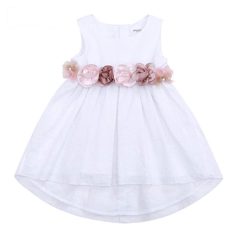歌瑞家A类女宝宝白色连衣裙