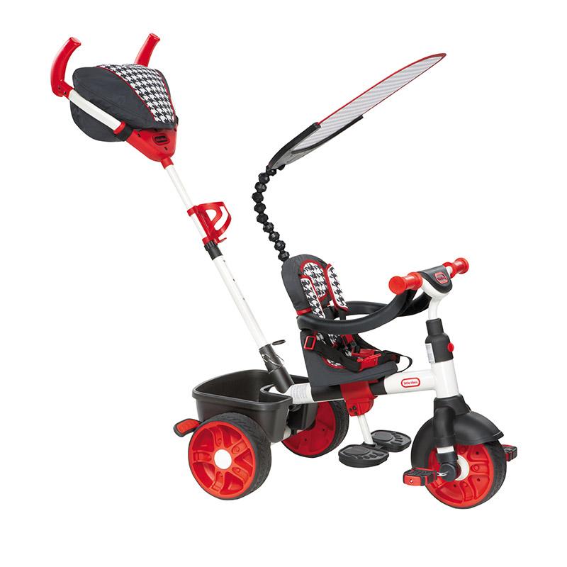 小泰克(Littletikes)4合1运动型推骑三轮车(红色)