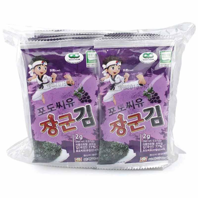 乐曦--葡萄籽油海苔(韩国原装进口)(6月以上)2g*10袋/包