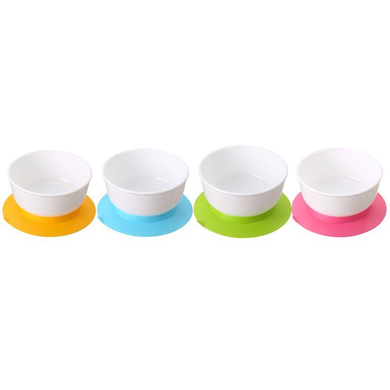 日康宝宝吸盘碗吸力强不易打翻可用微波炉加热颜色随机