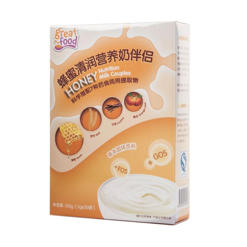 乐健儿GreatFood蜂蜜清润营养奶伴侣150g
