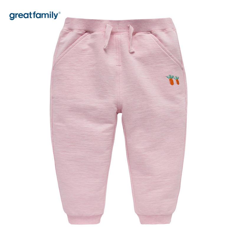 歌瑞家A类粉色女童针织长裤80CM