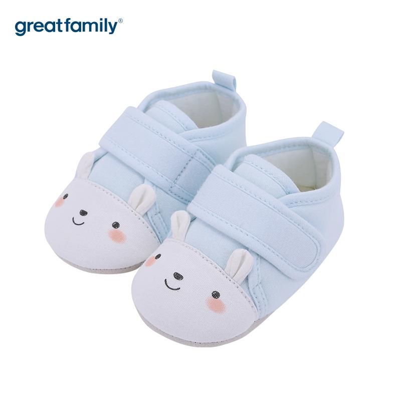 歌瑞贝儿(新)中性可爱动物宝宝鞋GB183-001SH蓝11CM双