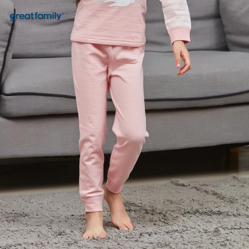 歌瑞家A类双层提花系列粉色女女童长裤