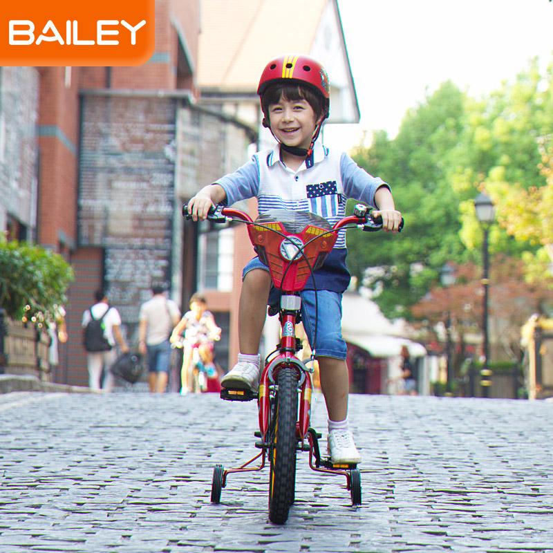 贝乐童车迪士尼系列钢铁侠盾牌自行车14寸 黄色