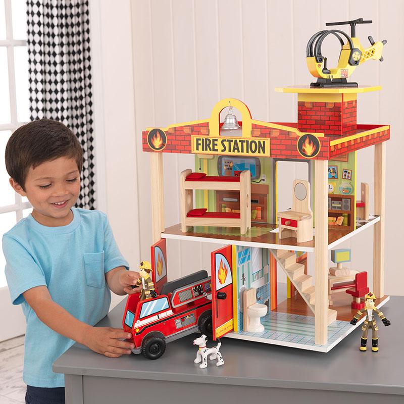 KidKraft消防站玩具套装