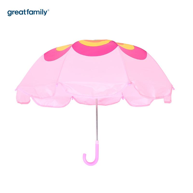 歌瑞家A类女童粉色花朵雨伞