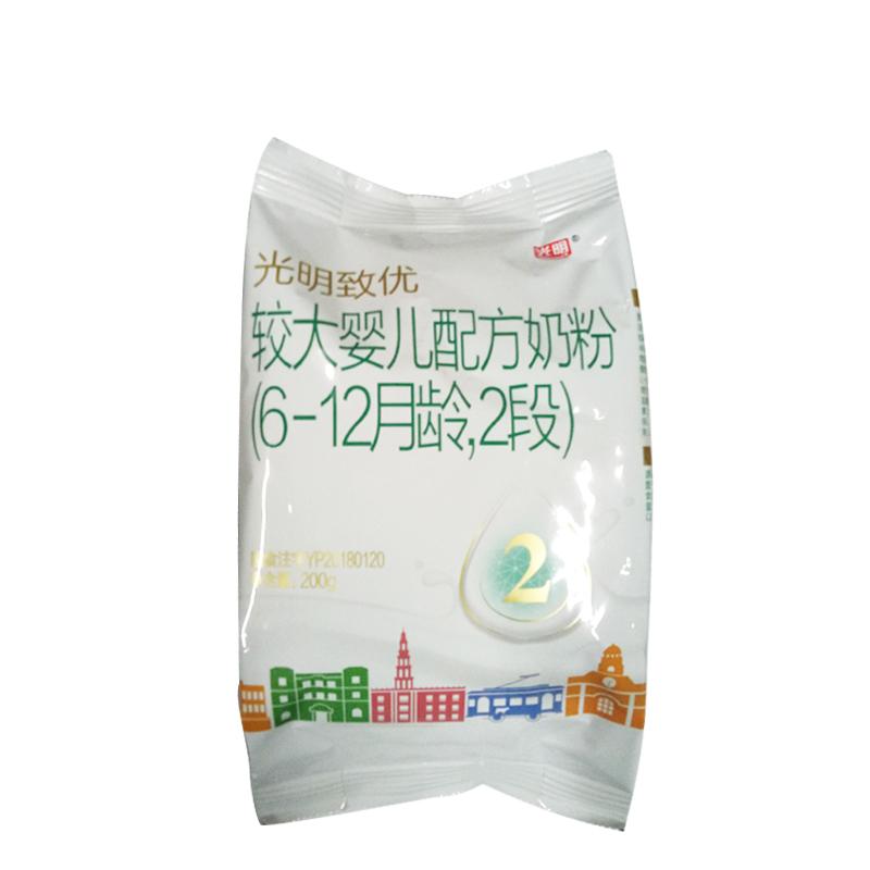 光明致优较大婴儿配方奶粉2段200g袋